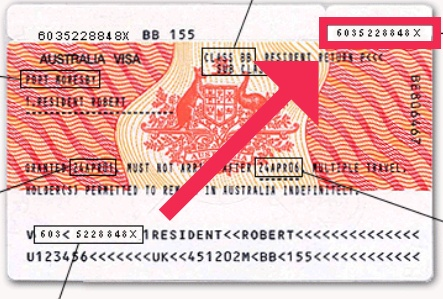 Individuare il Visa Label Number