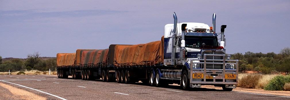 Il road train, diffuso quasi esclusivamente in Australia
