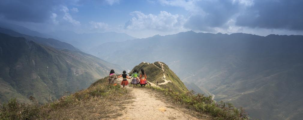 Panorama di montagne
